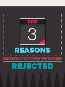 ways to get your affiliate application rejected