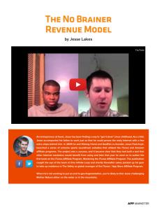 No Brainer Revenue Model