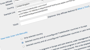 Within GeoRiot's dashboard, you can import Tradedoubler affiliate parameters for multiple countries across one region.