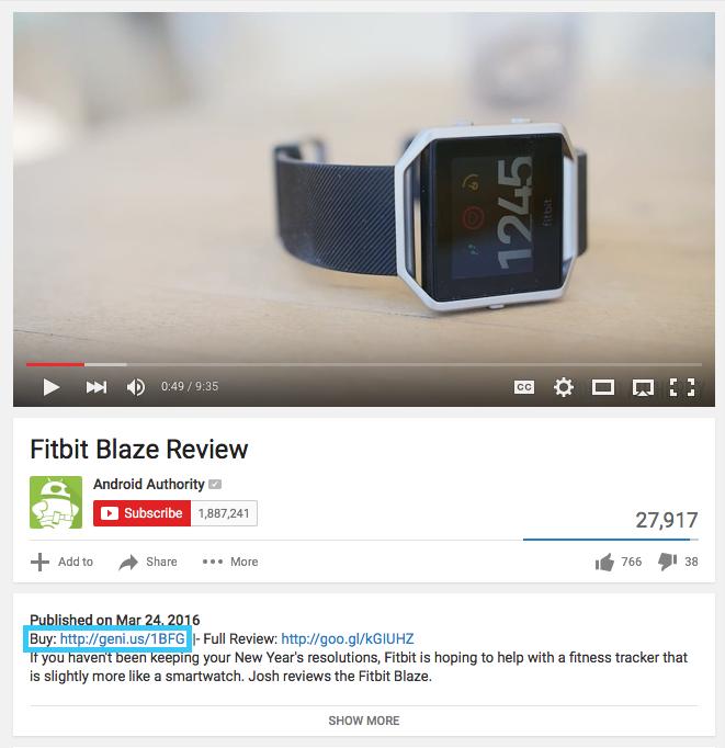 Youtube Affiliate Geniuslink