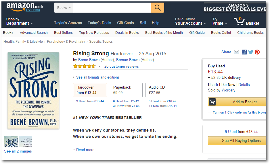 Geniuslink in Amazon UK Storefront