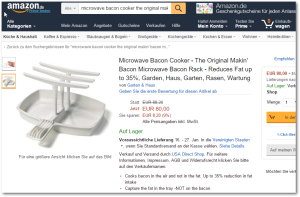 Bacon Maker in Amazon Germany