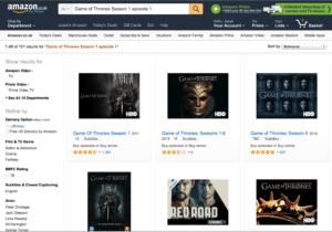 Game of Thrones Season 1 Episode 1 Amazon Screenshot