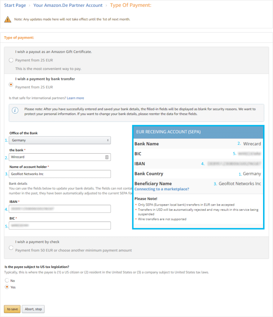 Translating Amazon Associates UK Into Payoneer.