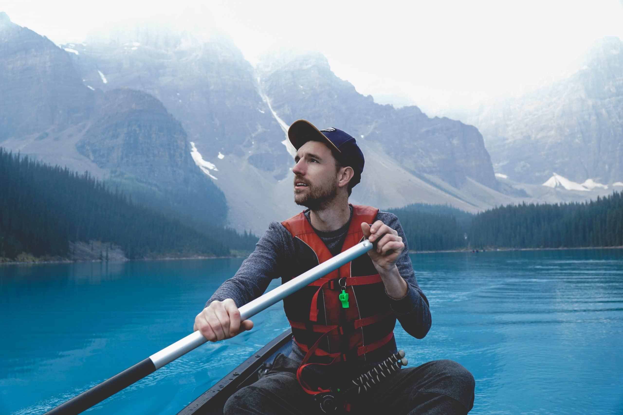 Kyle Taggart kayaking