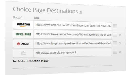 Choice Pages Destination