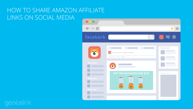 How to use amazon affiliate links and affiliate links on Facebook and other social media.