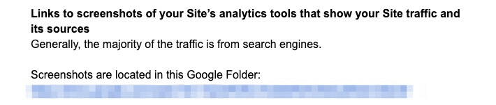 Screenshots showing my analytics