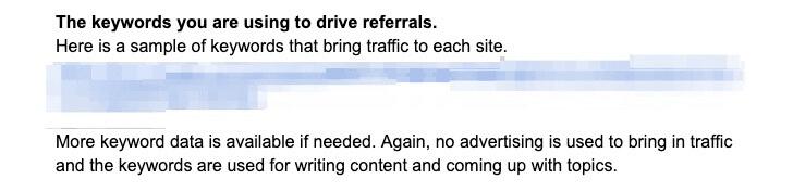 Keywords that drive referrals