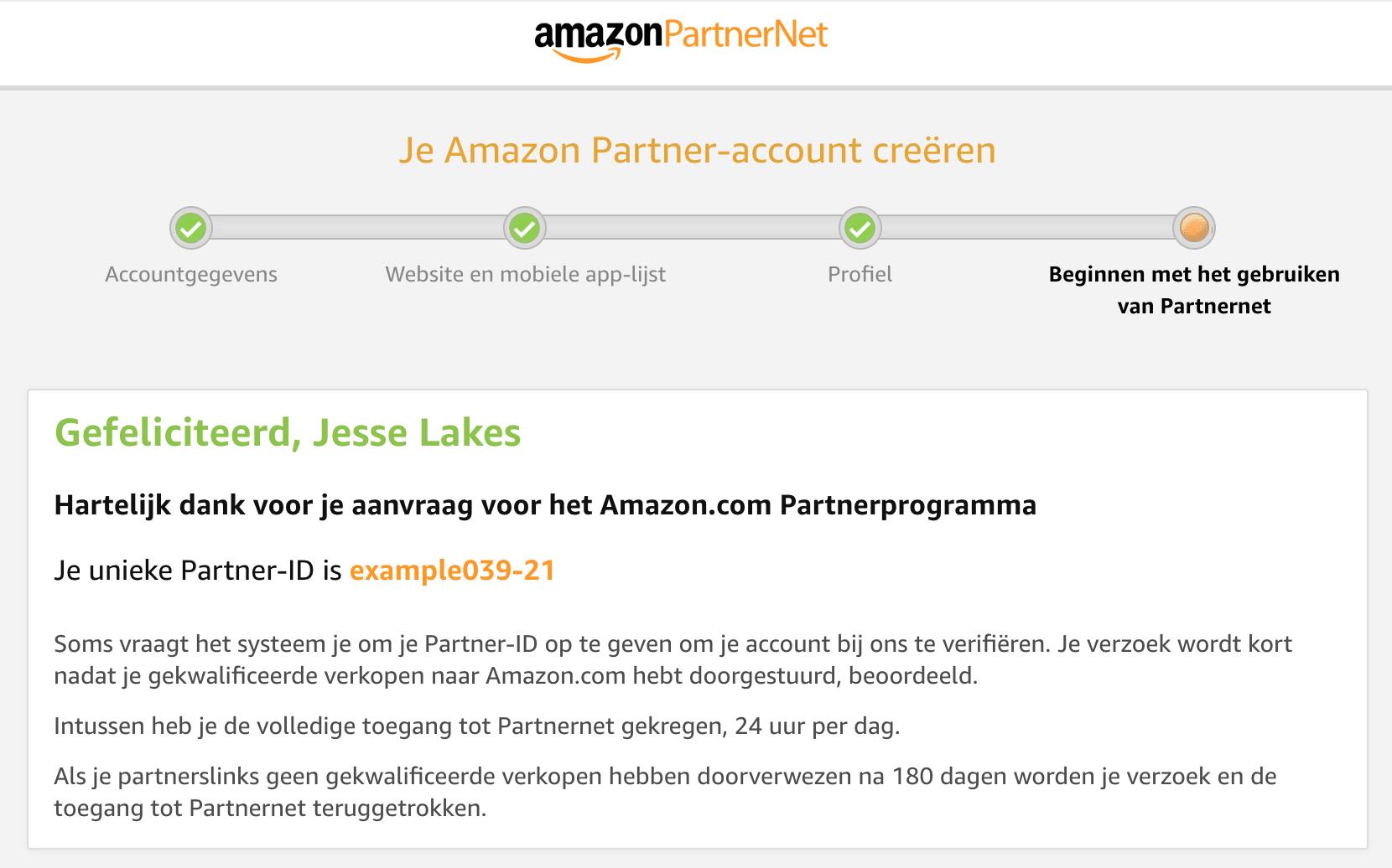Amazon Netherlands Account Set up