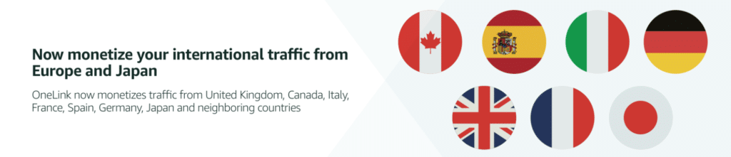 Now monetize your international traffic from Europe and Japan