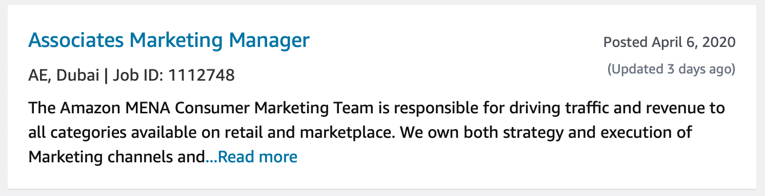 Associates Marketing Manager