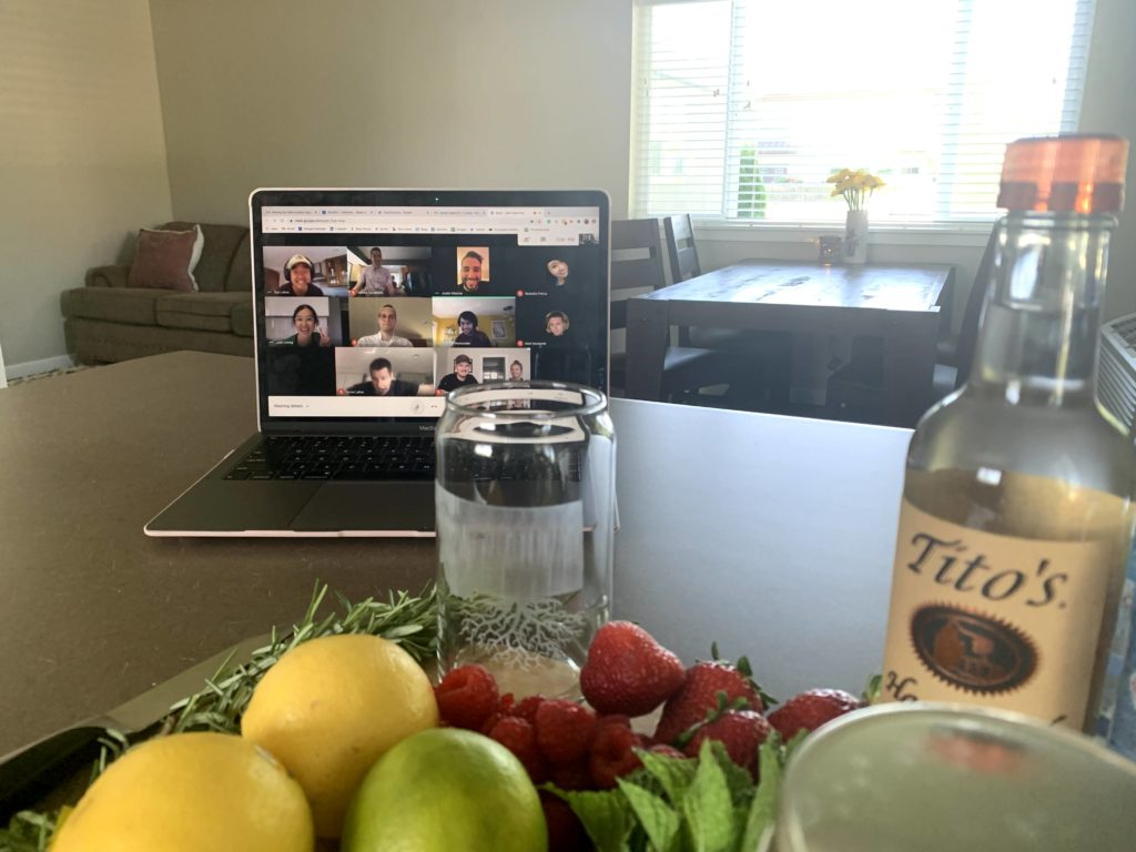 Cocktail Hour over Zoom