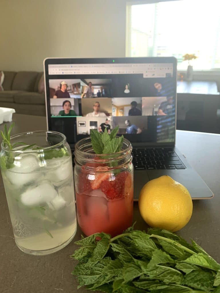Geniuslink Connecting despite working from home, comparing both cocktails
