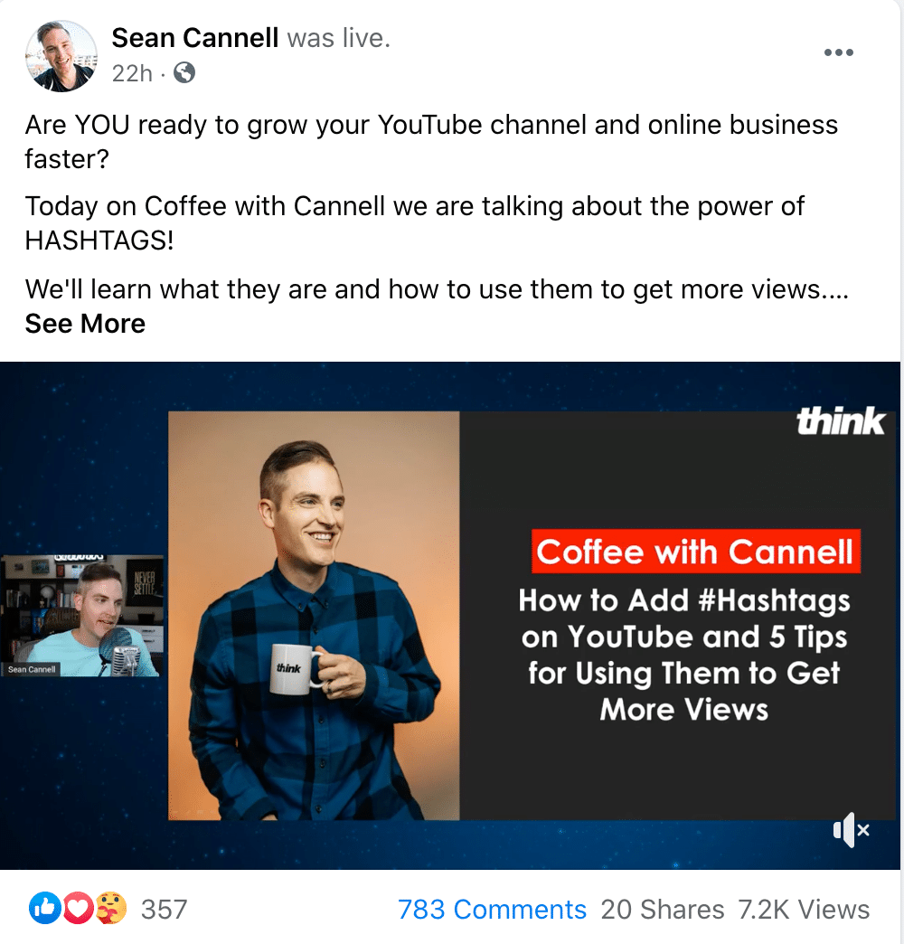 Sean Cannell Twitter Post