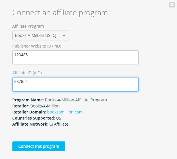 Connect an Affiliate Program on the Geniuslink Dashboard